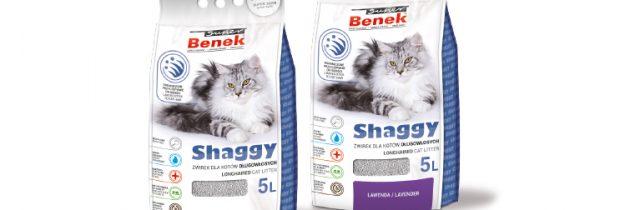 Super Benek SHAGGY – żwirek dla kotów długowłosych