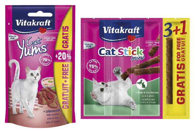 Cat Yums + wątróbka oraz CAT-STICK mini
