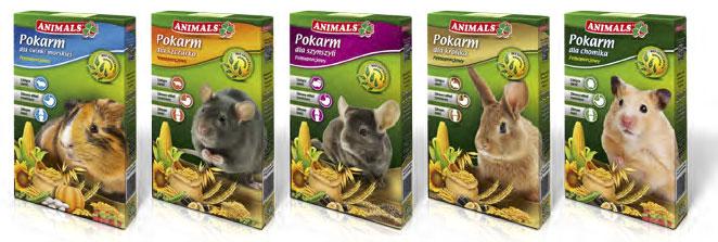 Zmiana opakowań pokarmów podstawowych ANIMALS dla gryzoni
