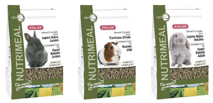 Karma Nutri'Meal wformie granulatu dla królików miniaturek oraz świnek morskich