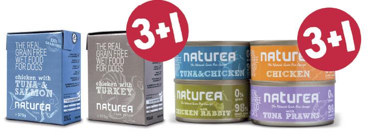 Promocja 3+1  Bezzbożowa mokra karma dla psów ikotów od Naturea !