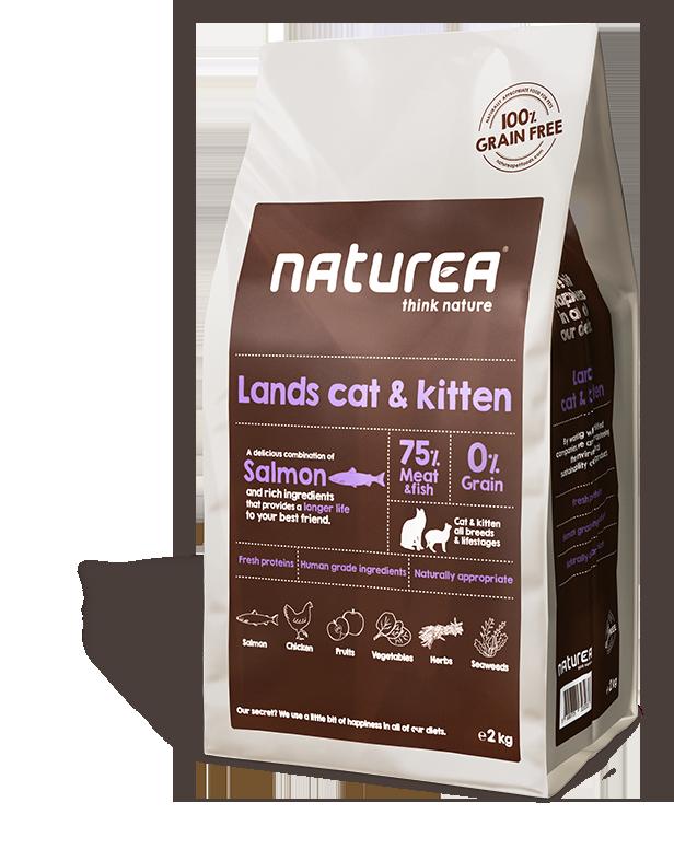 75 % mięsa i ryby znajdziesz w naszej suchej karmie dla kotów i kociąt