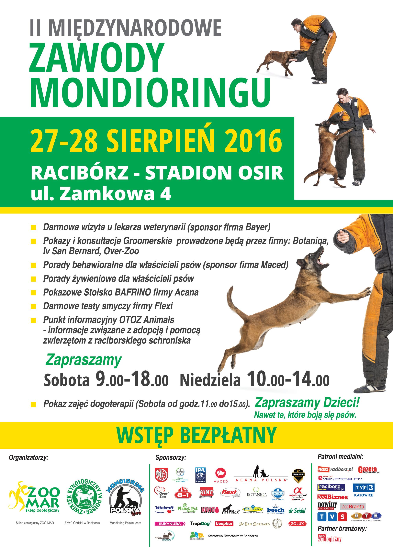II Międzynarodowe Zawody Mondioringu, 27-28 VIII Racibórz