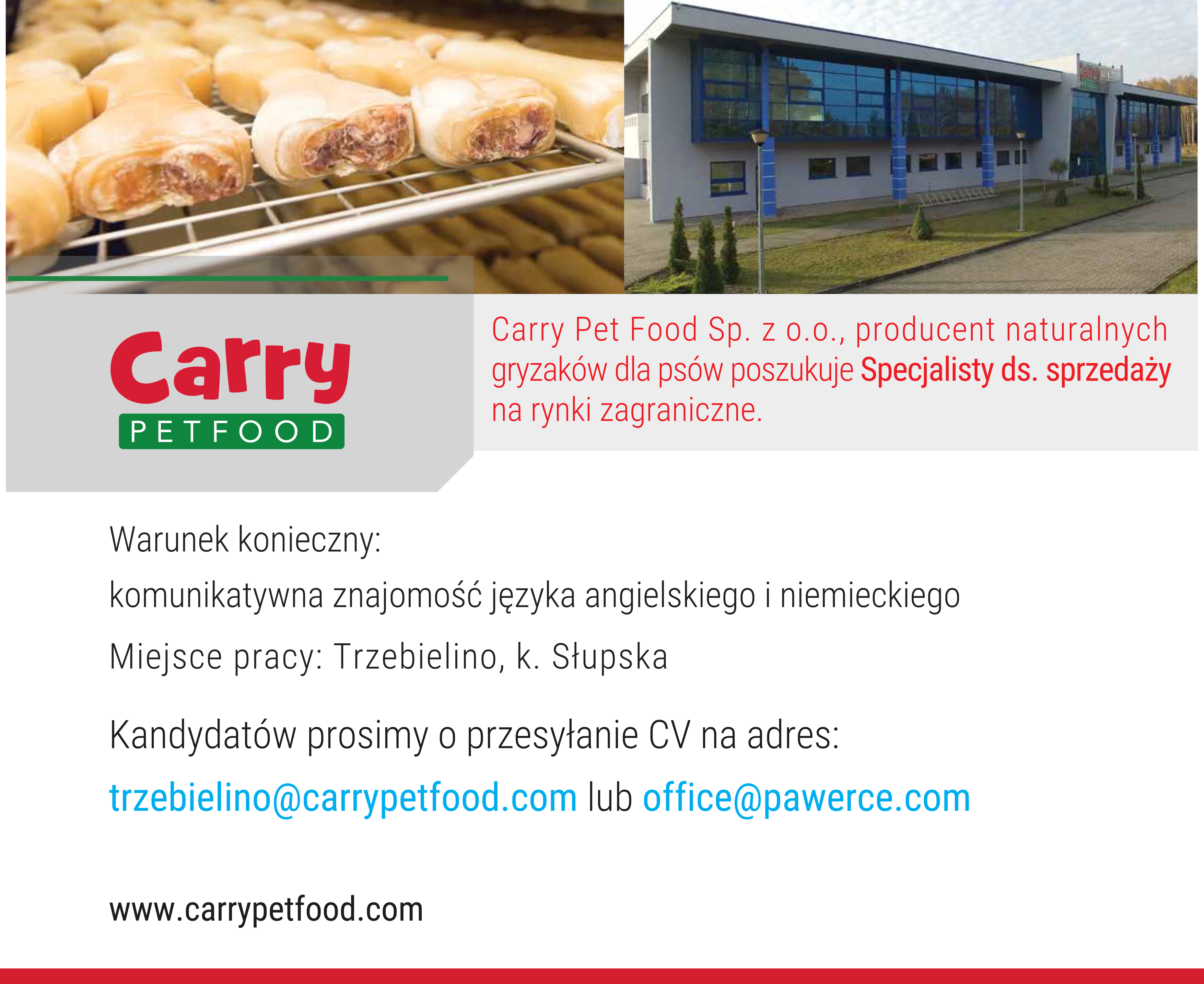 Oferta pracy od Carry Pet Food