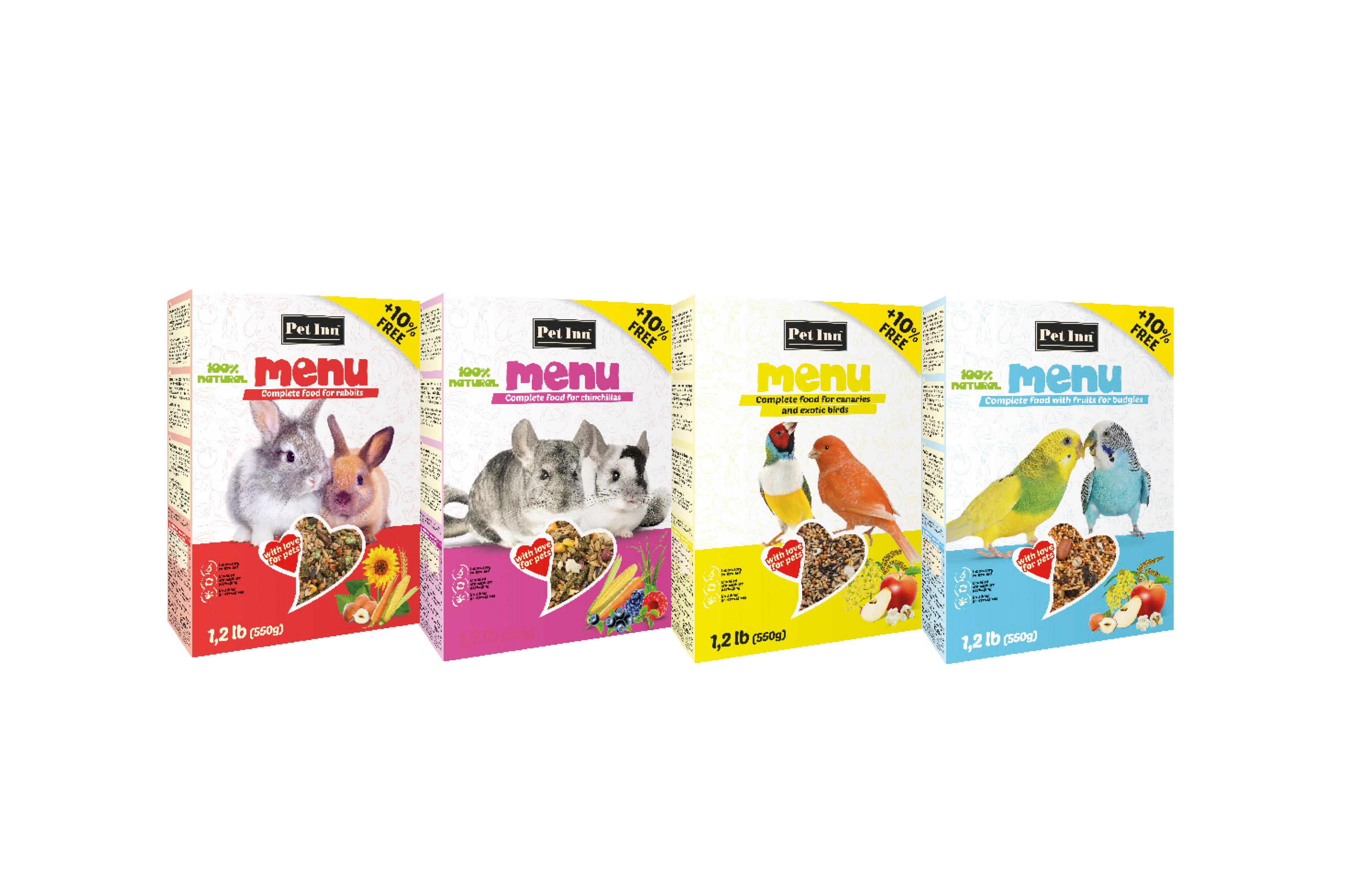 Pokarmy ikolby dla królików, gryzoni iptaków ozdobnych teraz wofercie PET INN!