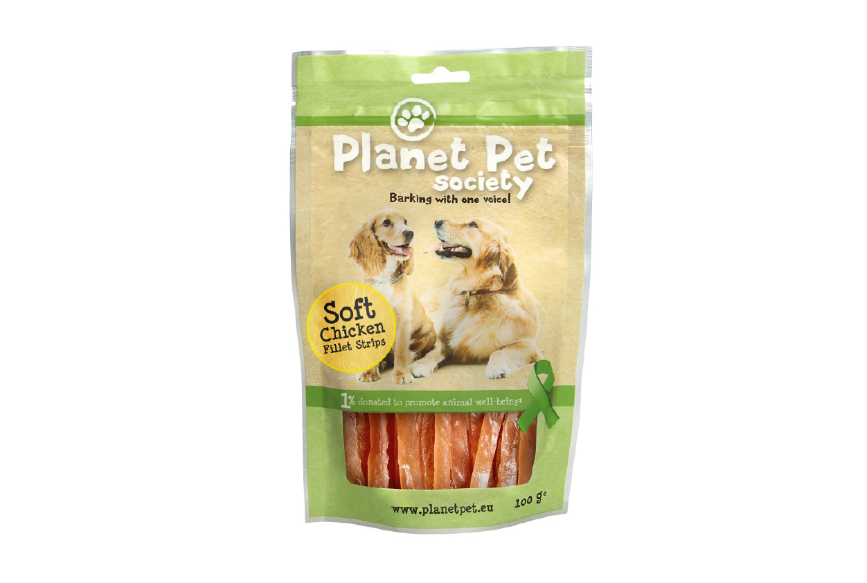 Planet Pet Society Miękkie Paski zfileta zkurczaka 100 g
