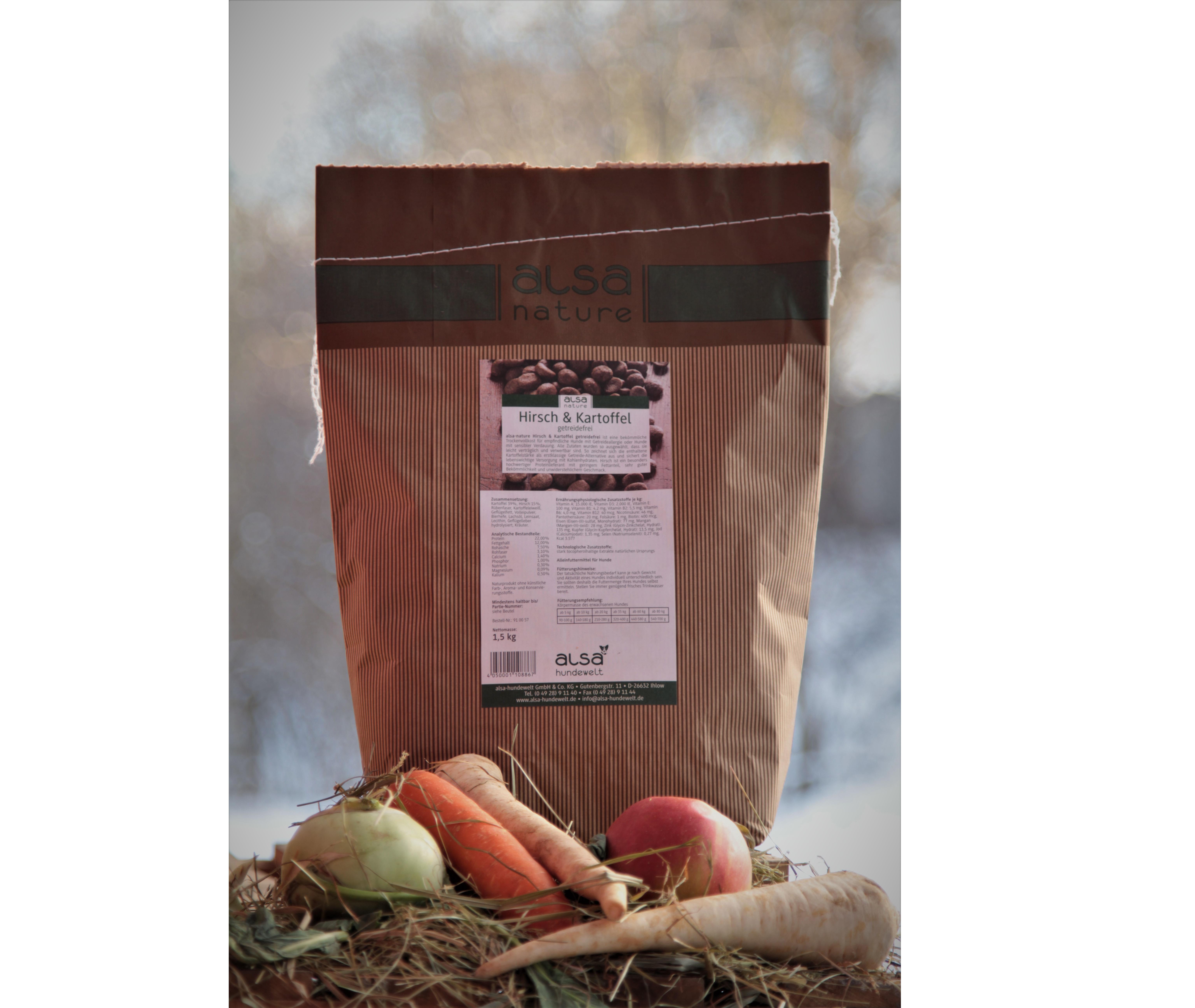Alsa-nature Hirsch & Kartoffel – Jeleń z Kartoflami