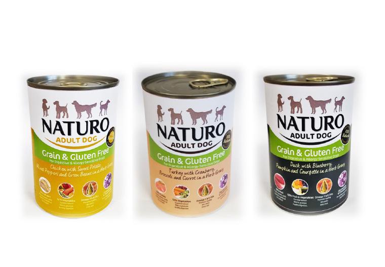 NATURO Grain & Gluten Free karma mokra dla dorosłych psów 390 g