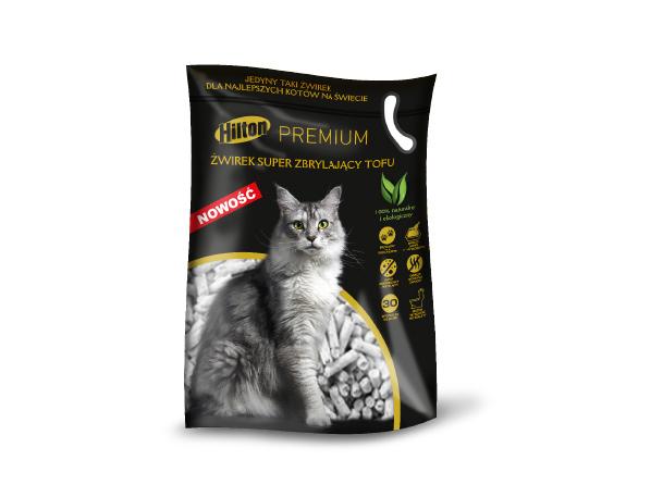 Hilton Premium Żwirek zbrylający tofu  – najnowszy żwirek na polskim rynku!