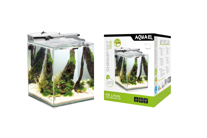 SHRIMP SET SMART DUO – nowoczesny zestaw akwariowy do hodowli krewetek, roślin i małych ryb