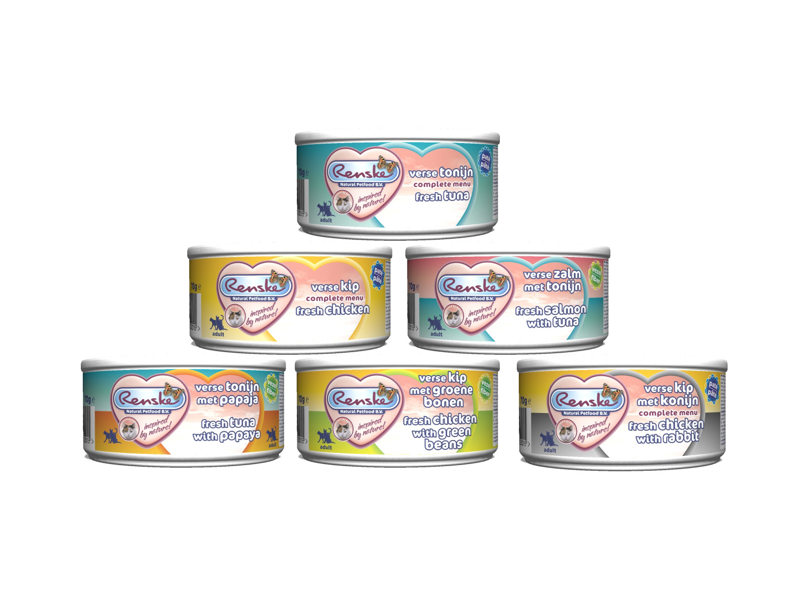 Renske Cat 70 g – naturalna mokra karma dla kotów ze świeżego mięsa