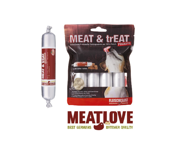 Nowe opakowania kiełbasek treningowych MEAT & trEAT 4x40g!
