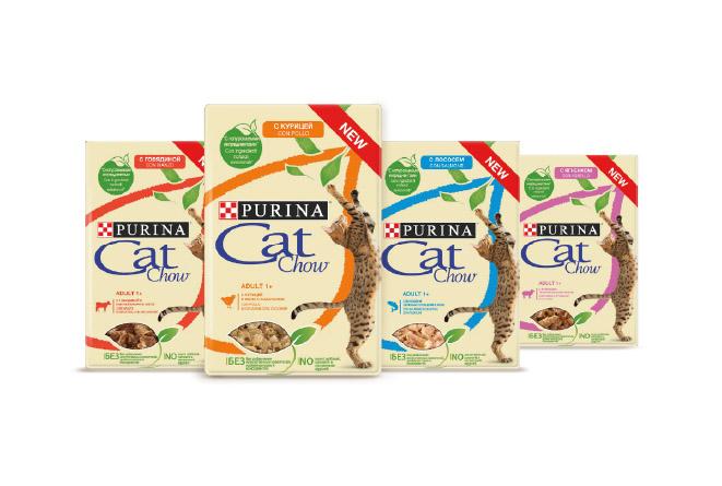PURINA® Cat Chow® grillowane kawałki zkurczaka, jagnięciny, łososia iwołowiny wgalaretce zsoczystymi warzywami saszetki 85 g karma mokra dla kota