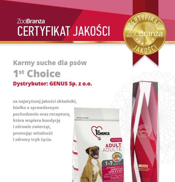 Certyfikat Jakości dla 1st Choice!