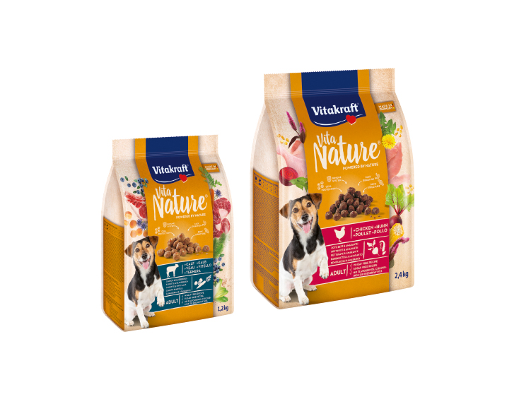 Nowa sucha karma dla psów Vitakraft® – wspierana przez naturę