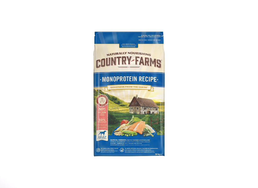 COUNTRY FARMS ™ Adult Monoprotein karma bogata w Łososia