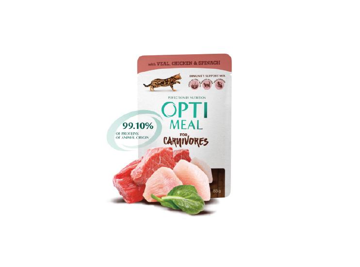 Nowość! Optimeal for Carnivores zkawałkami naturalnego mięsa
