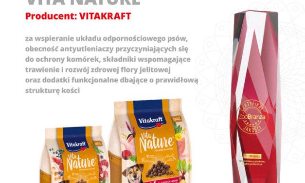 Certyfikat Jakości ZooBranży otrzymuje VITAKRAFT!