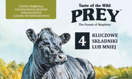 Oferta dla sklepów zoologicznych – karma Taste od the Wild PREY!
