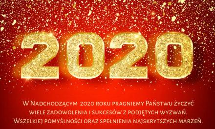 Szczęśliwego Nowego Roku 2020 roku!