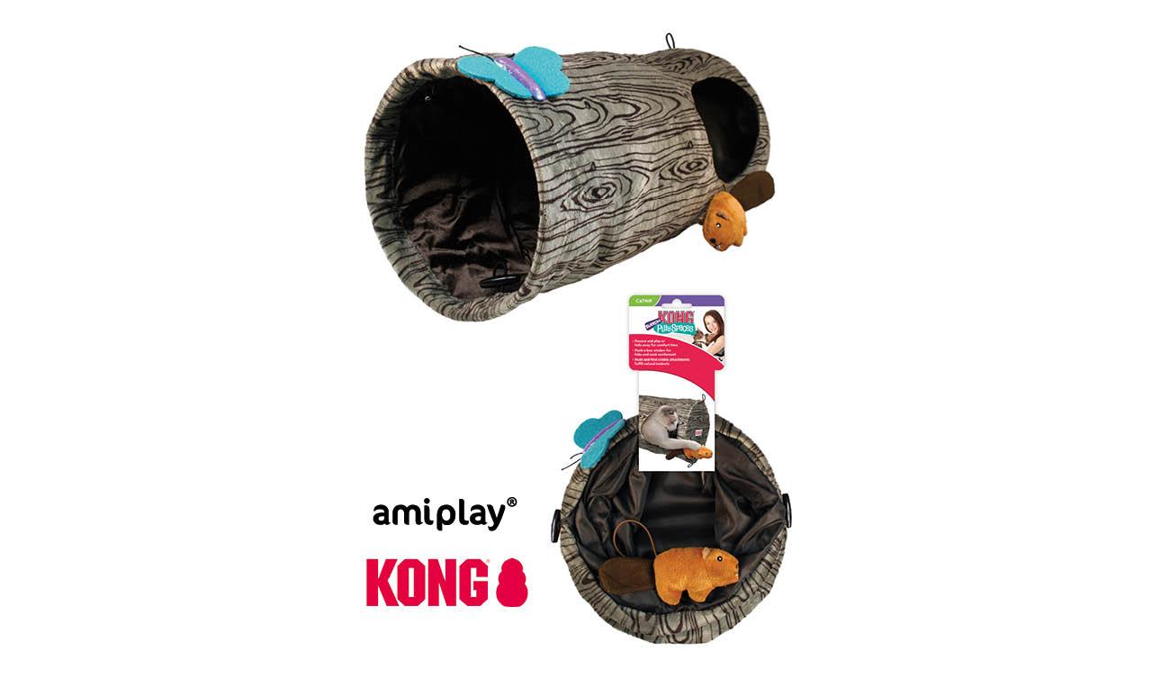 amiplay, dystrybutor marki KONG, prezentuje: KONG Cat Play Spaces Burrow