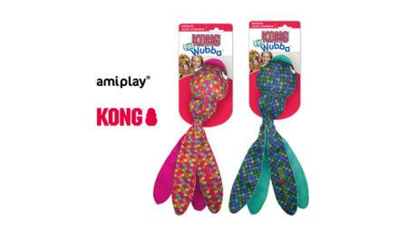 amiplay, dystrybutor marki Kong, prezentuje KONG Wubba Finz pink, blue
