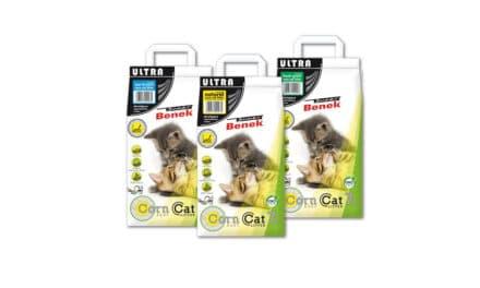 Żwirek dla kotów Super Benek Corn Cat Ultra – KUKURYDZIANY, ZBRYLAJĄCY
