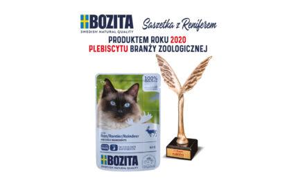 Bozita Pouch – Produktem Roku 2020 Plebiscytu Branży Zoologicznej wkategorii karmy mokre dla kotów!