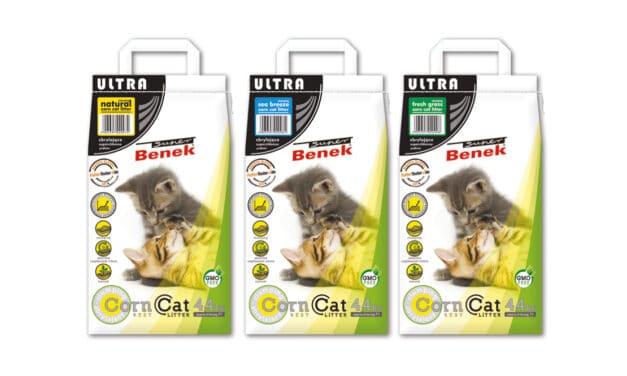 Kukurydziany, zbrylający żwirek dla kotów Super Benek Corn Cat Ultra 7 L