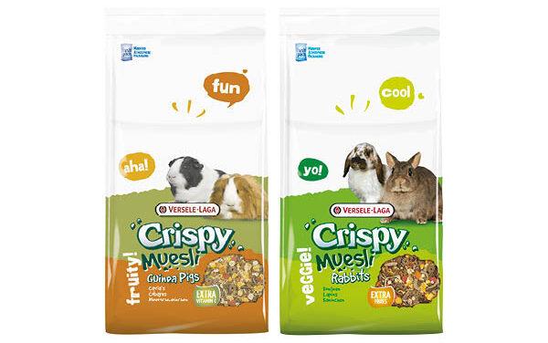 Nowość – karmy crispy muesli: guinea pigs, rabbits